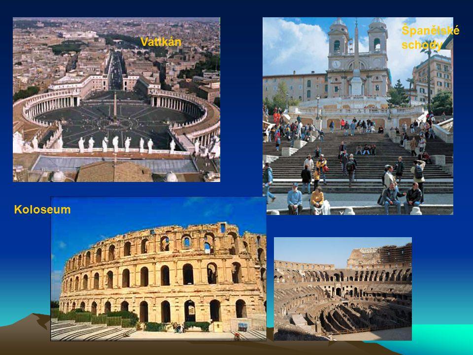 Španělské schody Vatikán Koloseum