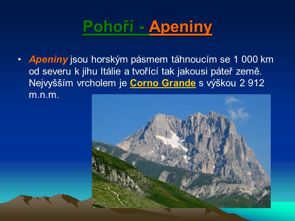 Pohoří - Apeniny