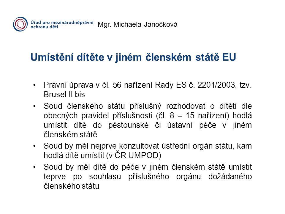Umístění dítěte v jiném členském státě EU