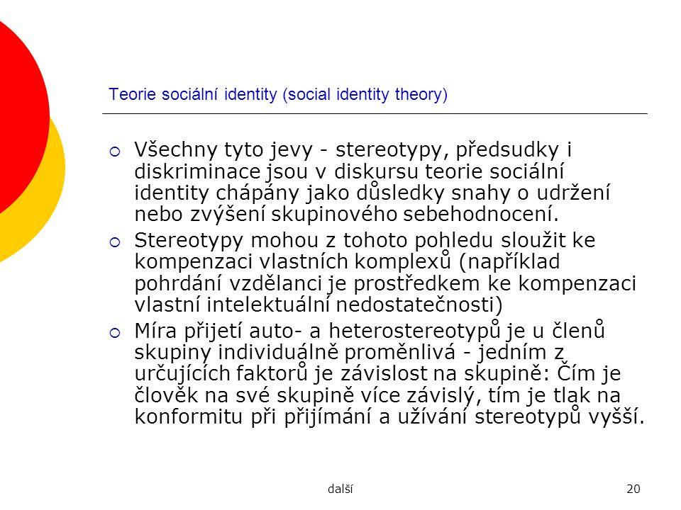 Teorie sociální identity (social identity theory)
