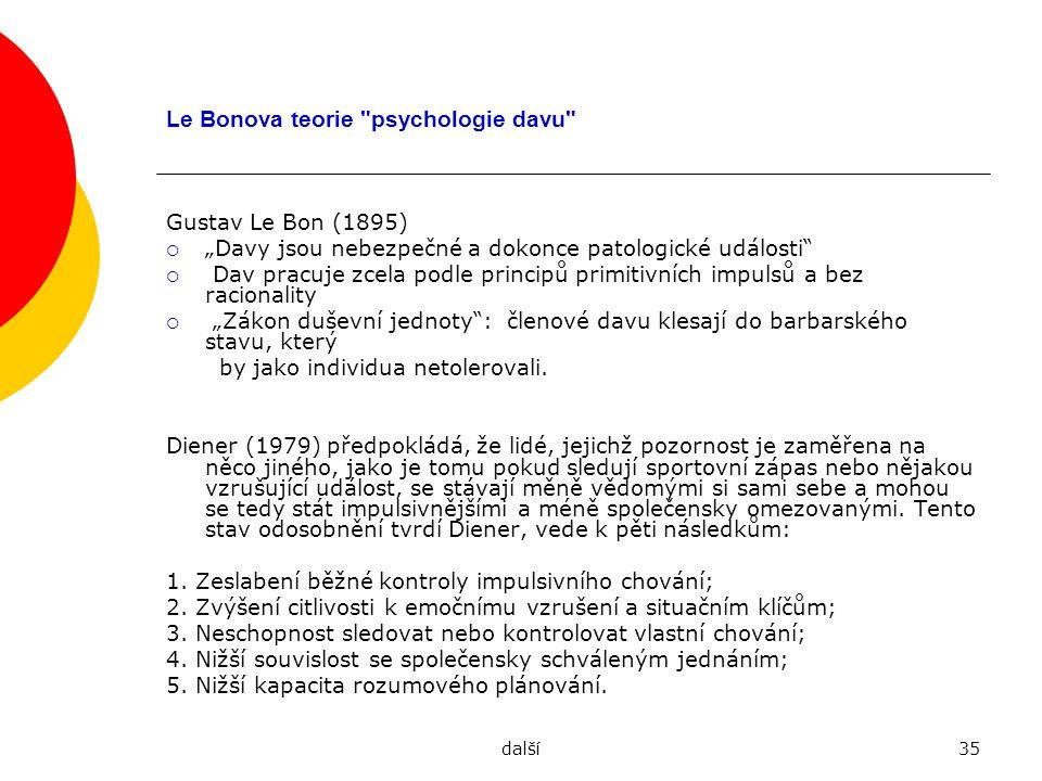 Le Bonova teorie psychologie davu