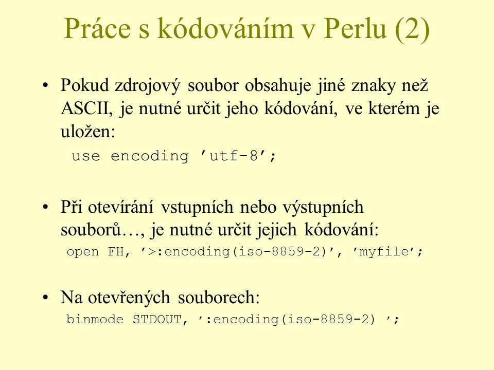 Práce s kódováním v Perlu (2)