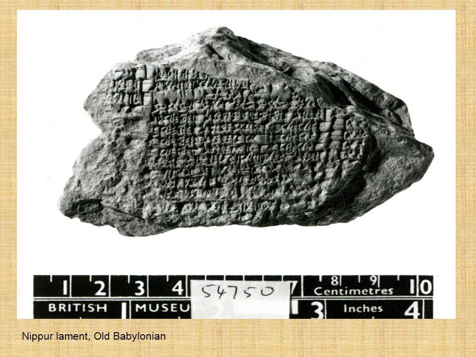 Nippur lament, Old Babylonian