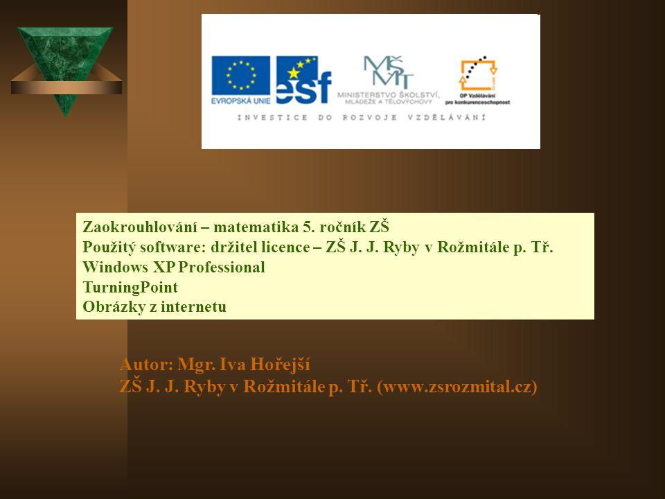 ZŠ J. J. Ryby v Rožmitále p. Tř. (www.zsrozmital.cz)