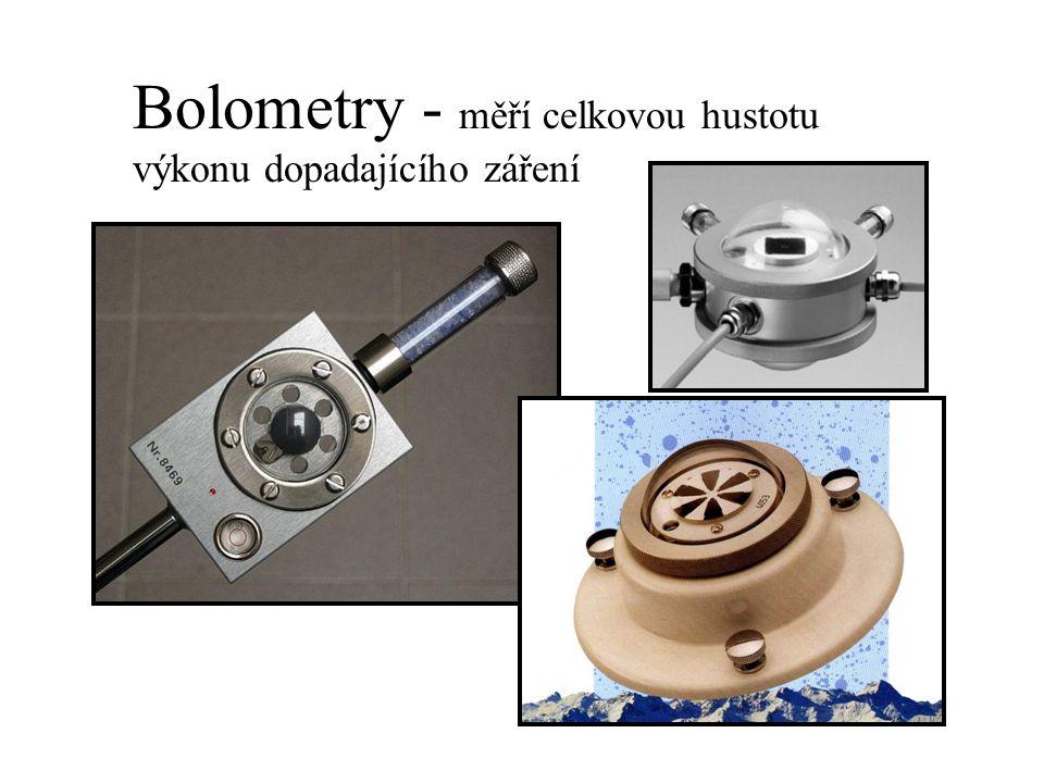 Bolometry - měří celkovou hustotu výkonu dopadajícího záření