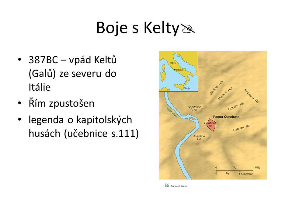 Boje s Kelty 387BC – vpád Keltů (Galů) ze severu do Itálie