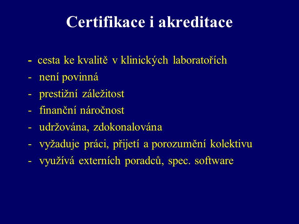 Certifikace i akreditace