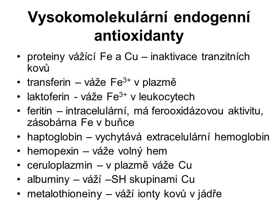 Vysokomolekulární endogenní antioxidanty