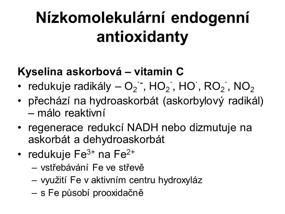 Nízkomolekulární endogenní antioxidanty