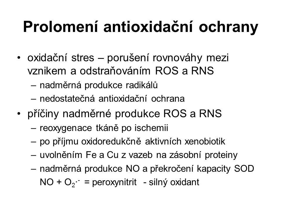 Prolomení antioxidační ochrany