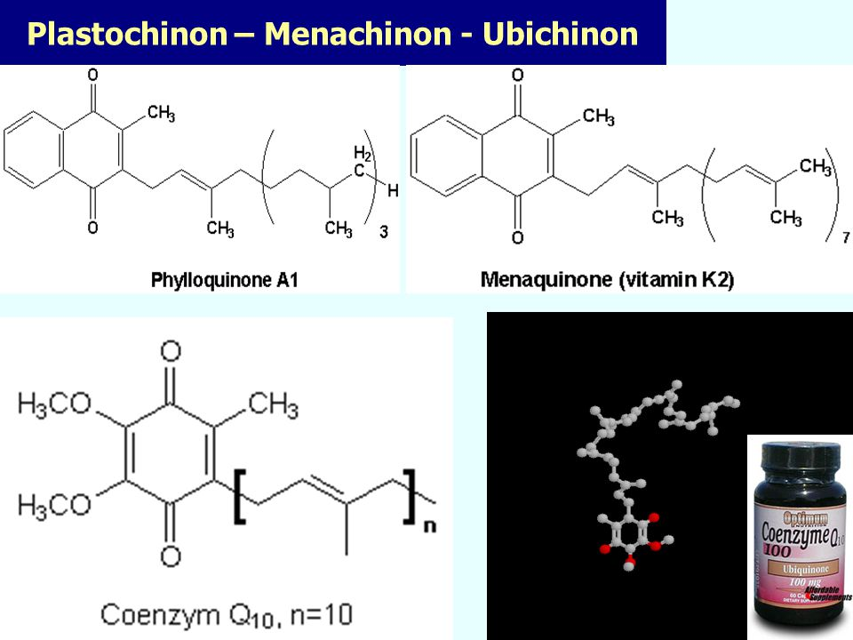Plastochinon – Menachinon - Ubichinon