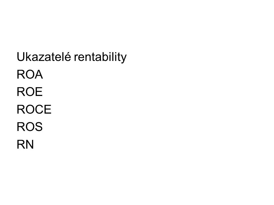 Ukazatelé rentability