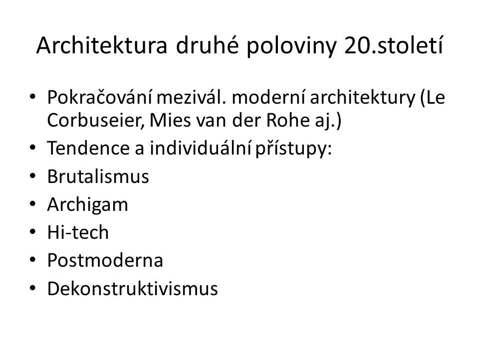 Architektura druhé poloviny 20.století