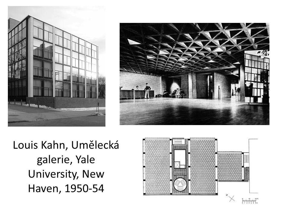 Louis Kahn, Umělecká galerie, Yale University, New Haven, 1950-54