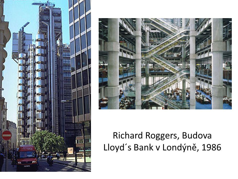 Richard Roggers, Budova Lloyd´s Bank v Londýně, 1986