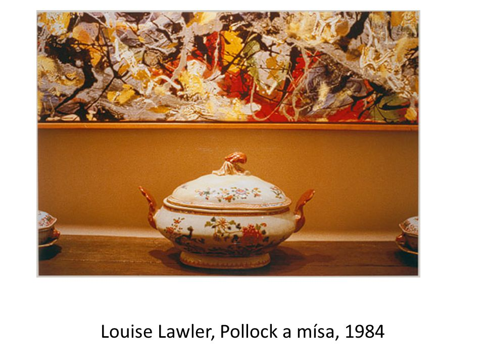 Louise Lawler, Pollock a mísa, 1984
