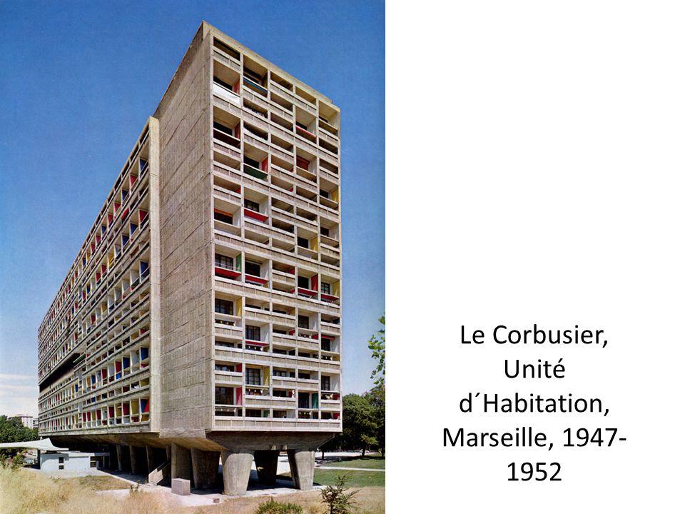 Le Corbusier, Unité d´Habitation, Marseille, 1947-1952