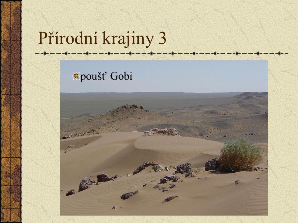 Přírodní krajiny 3 poušť Gobi