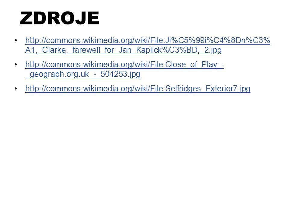 ZDROJE http://commons.wikimedia.org/wiki/File:Ji%C5%99i%C4%8Dn%C3% A1,_Clarke,_farewell_for_Jan_Kaplick%C3%BD,_2.jpg.