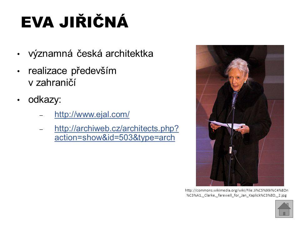 Eva Jiřičná významná česká architektka realizace především v zahraničí