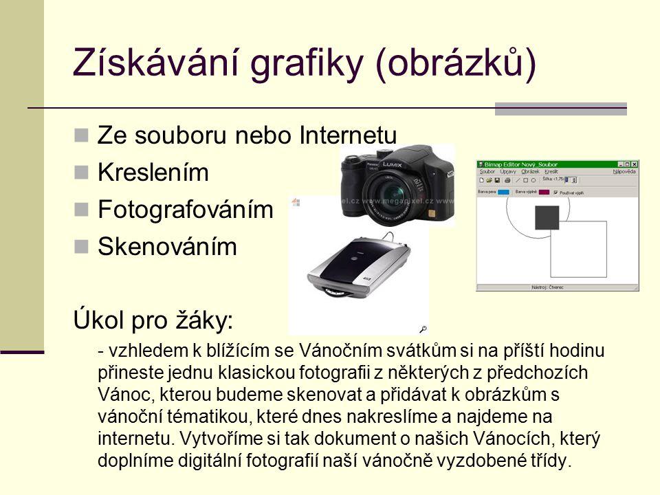 Získávání grafiky (obrázků)