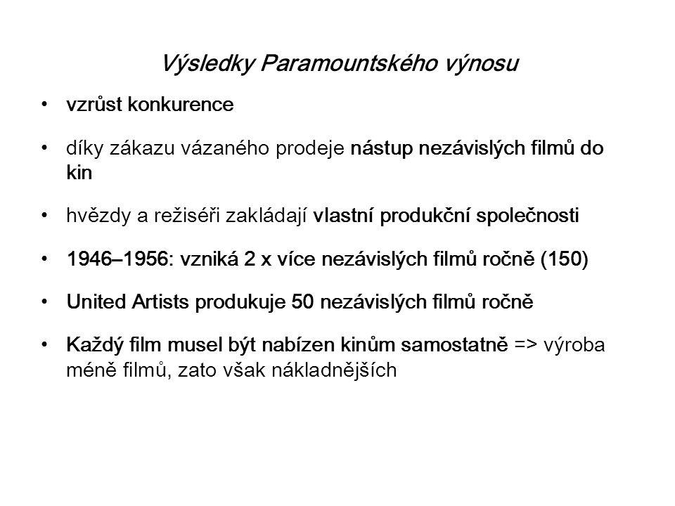 Výsledky Paramountského výnosu