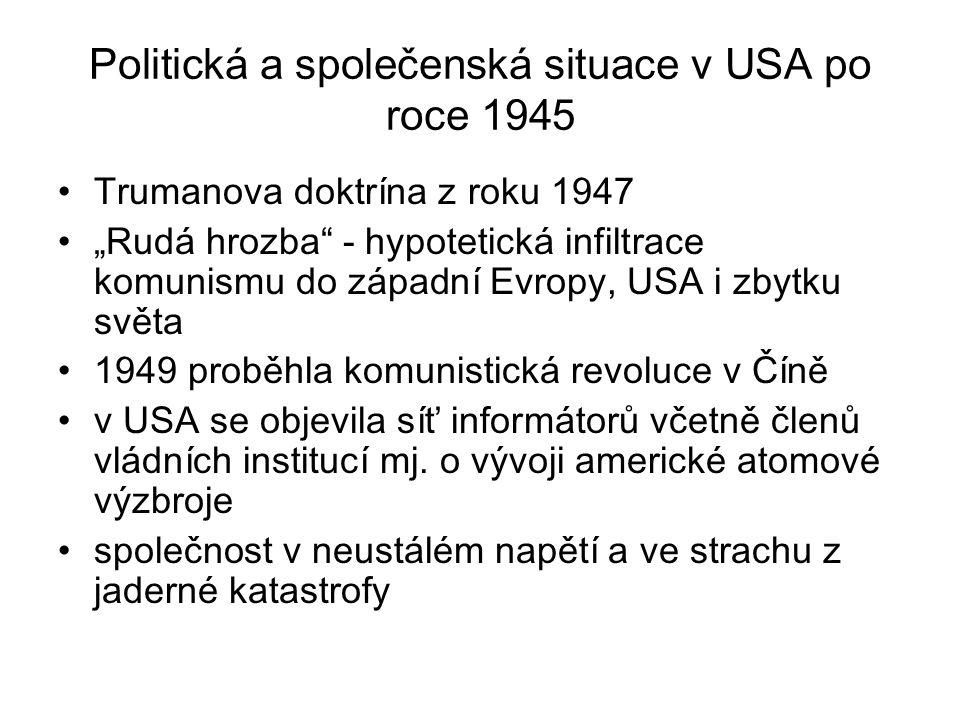 Politická a společenská situace v USA po roce 1945