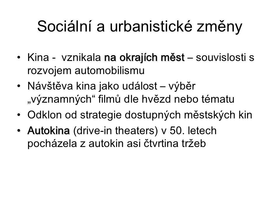 Sociální a urbanistické změny