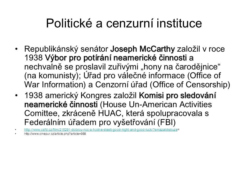 Politické a cenzurní instituce