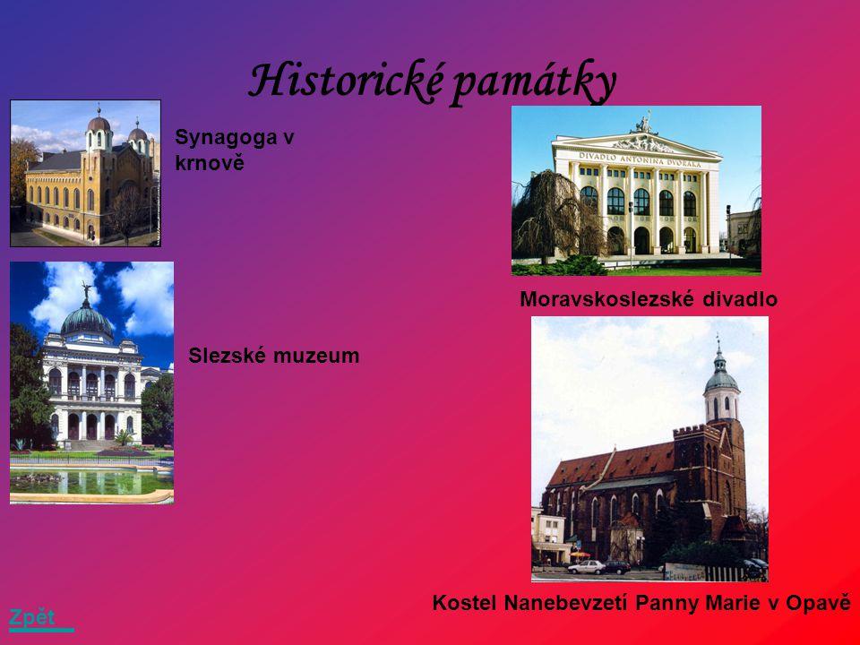 Historické památky Synagoga v krnově Moravskoslezské divadlo