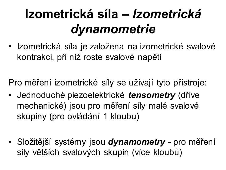 Izometrická síla – Izometrická dynamometrie