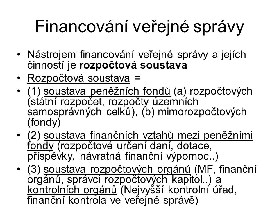 Financování veřejné správy