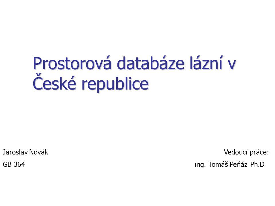 Prostorová databáze lázní v České republice
