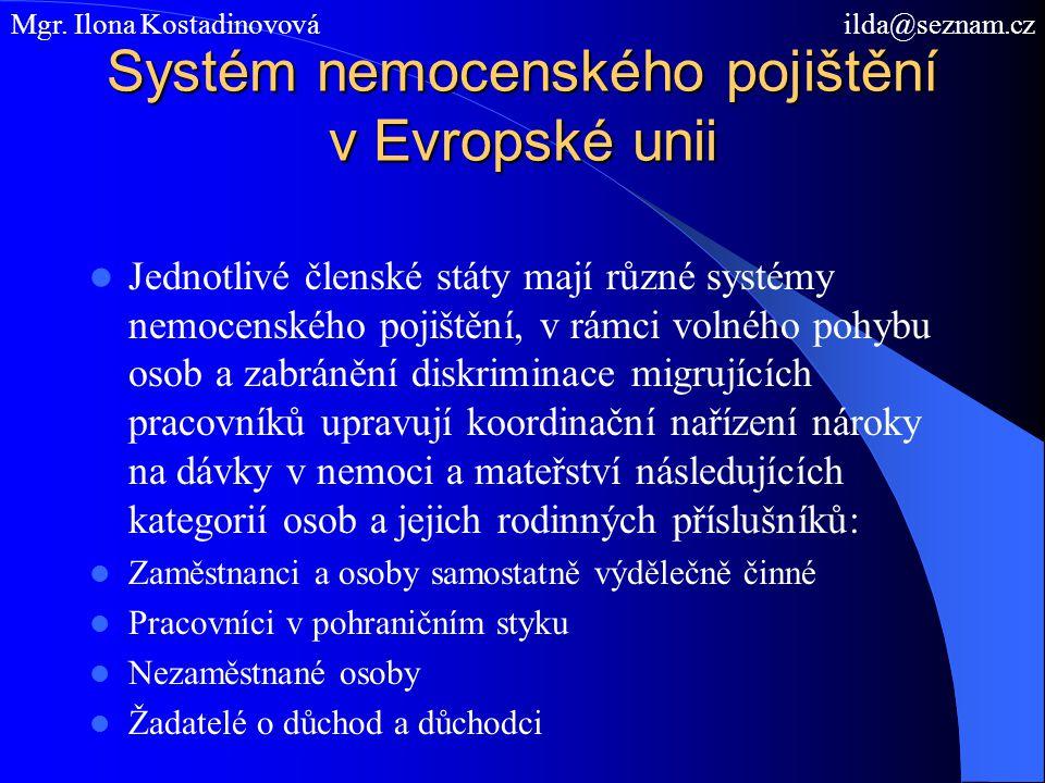 Systém nemocenského pojištění v Evropské unii