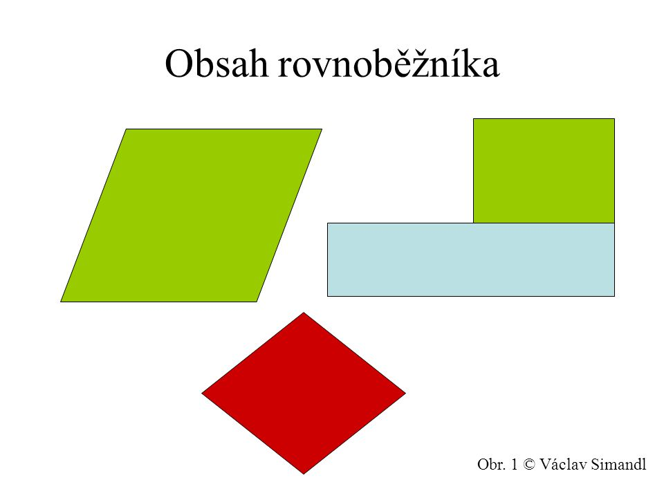 Obsah rovnoběžníka Obr. 1 © Václav Simandl