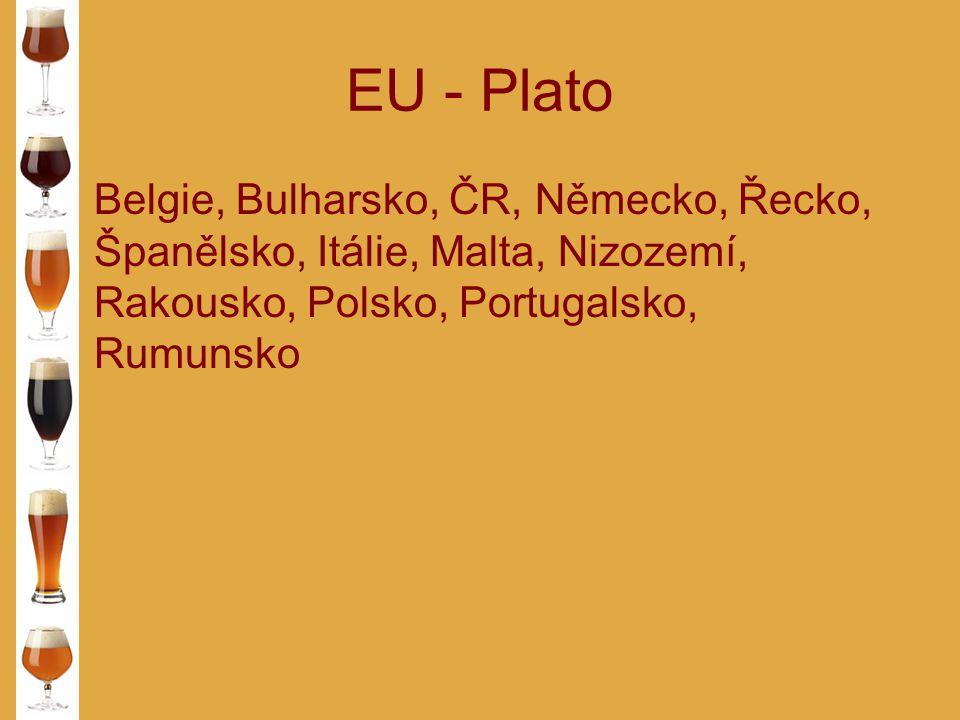 EU - Plato Belgie, Bulharsko, ČR, Německo, Řecko, Španělsko, Itálie, Malta, Nizozemí, Rakousko, Polsko, Portugalsko, Rumunsko.