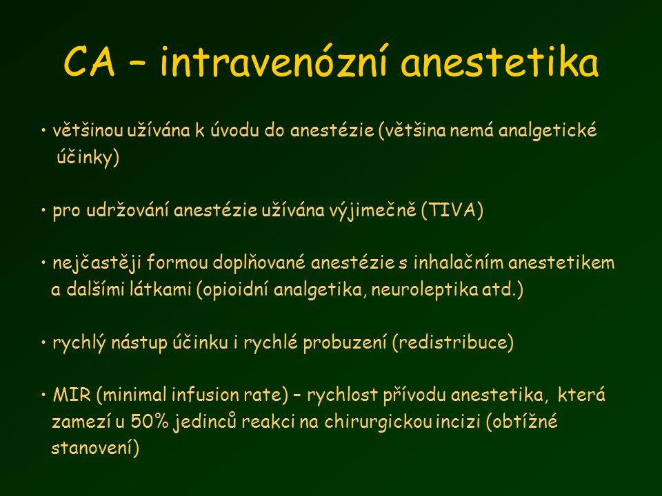CA – intravenózní anestetika