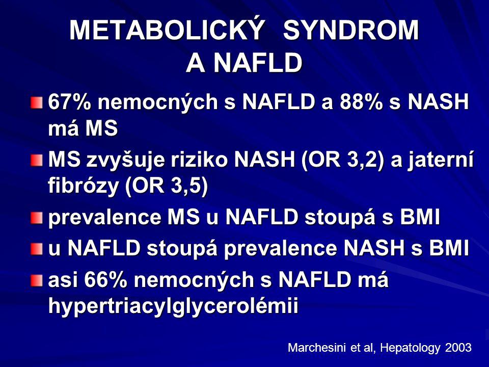 METABOLICKÝ SYNDROM A NAFLD