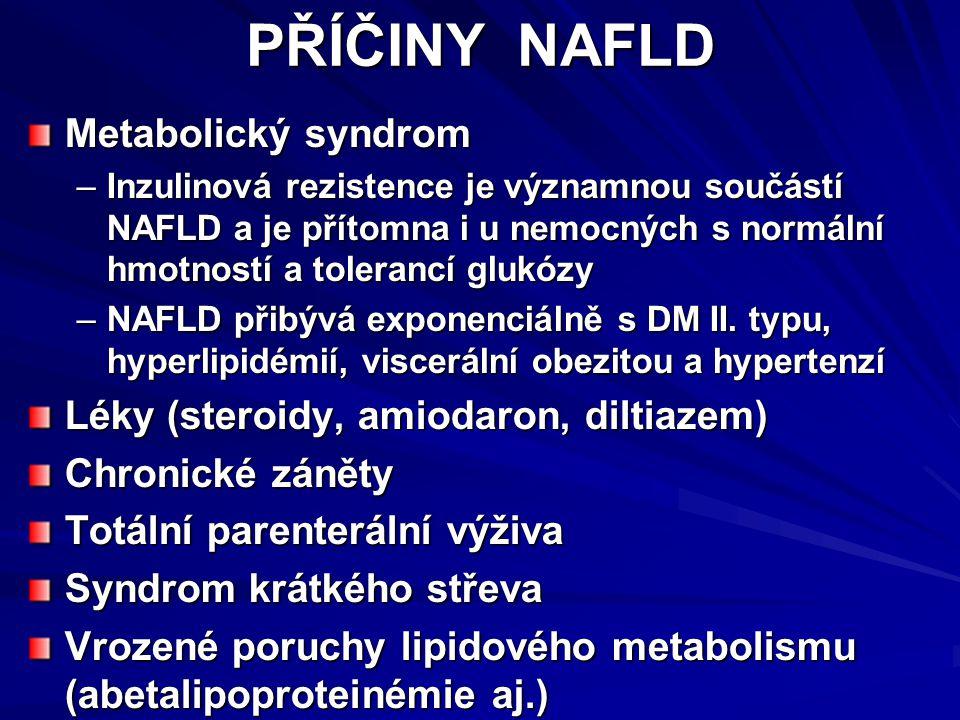 PŘÍČINY NAFLD Metabolický syndrom