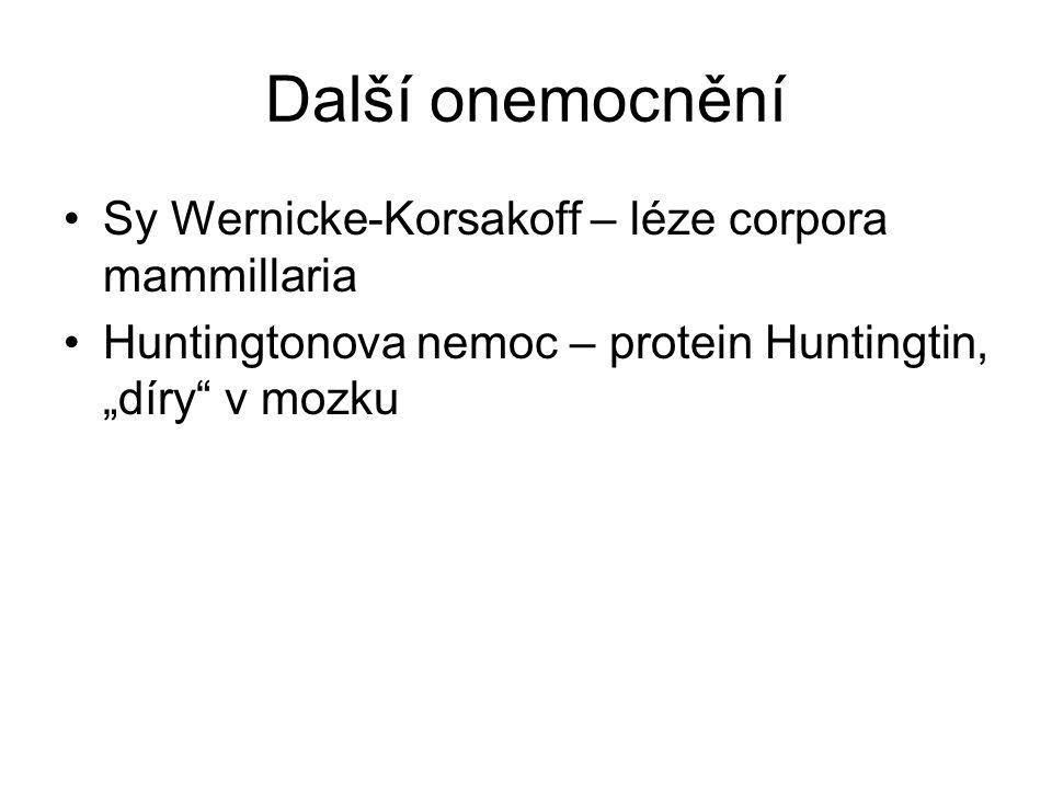Další onemocnění Sy Wernicke-Korsakoff – léze corpora mammillaria