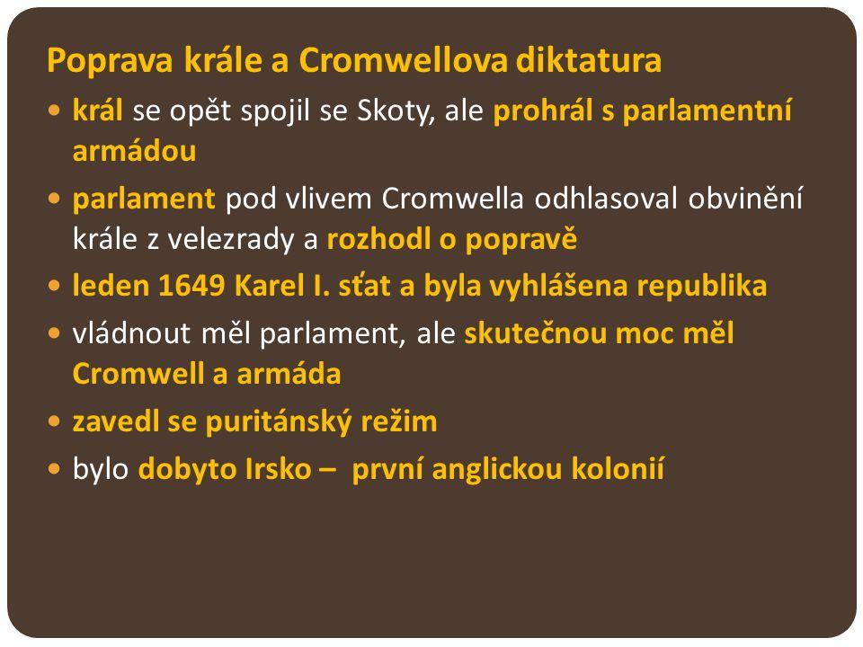 Poprava krále a Cromwellova diktatura