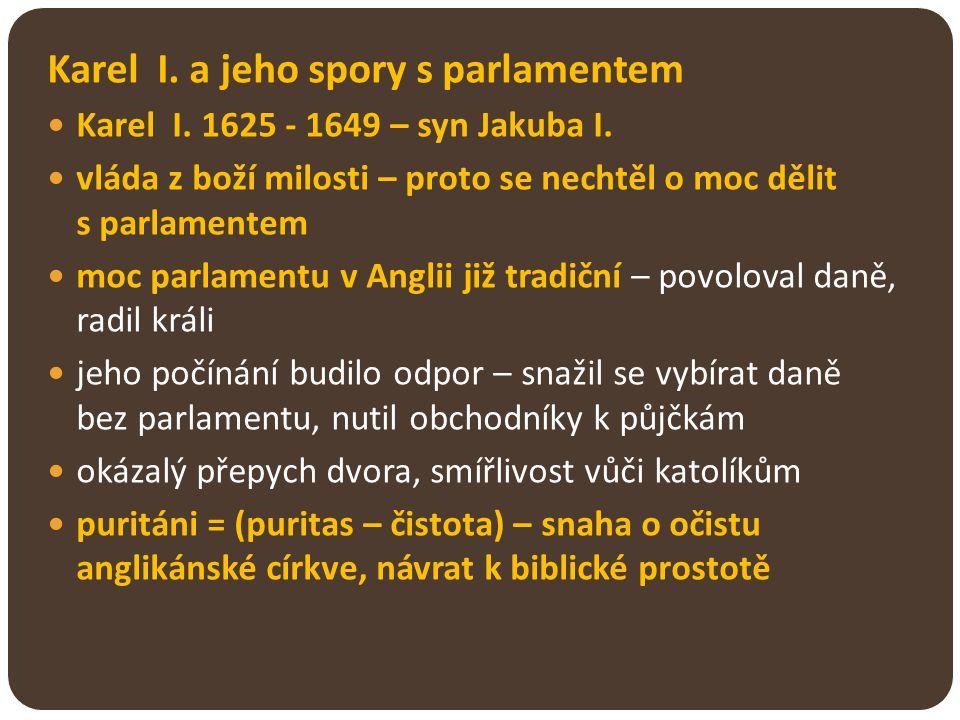 Karel I. a jeho spory s parlamentem