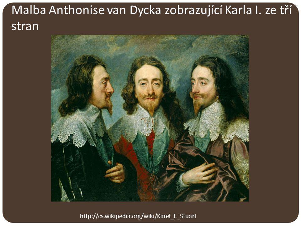Malba Anthonise van Dycka zobrazující Karla I. ze tří stran