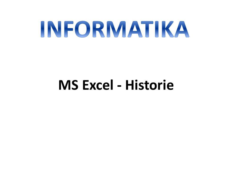 INFORMATIKA MS Excel - Historie