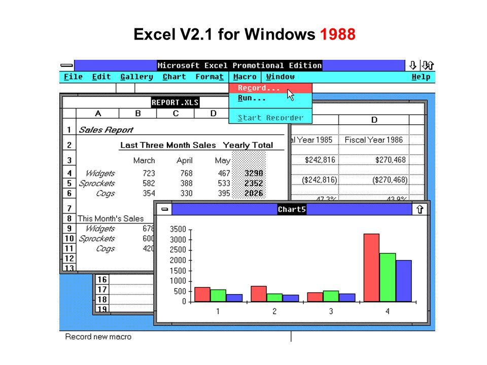 Excel V2.1 for Windows 1988
