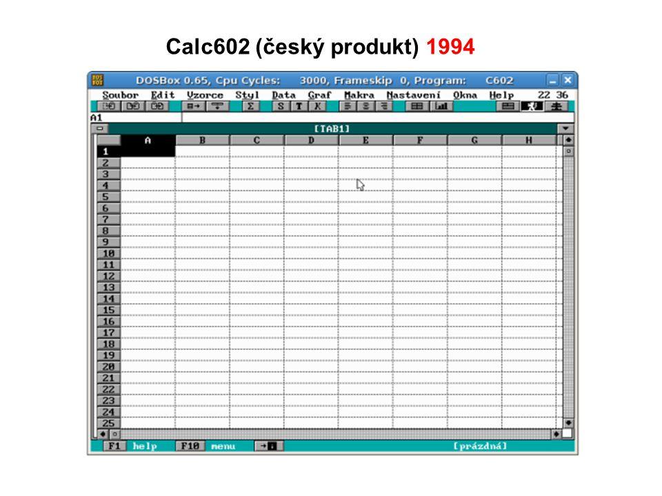 Calc602 (český produkt) 1994