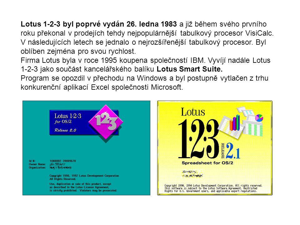Lotus 1-2-3 byl poprvé vydán 26