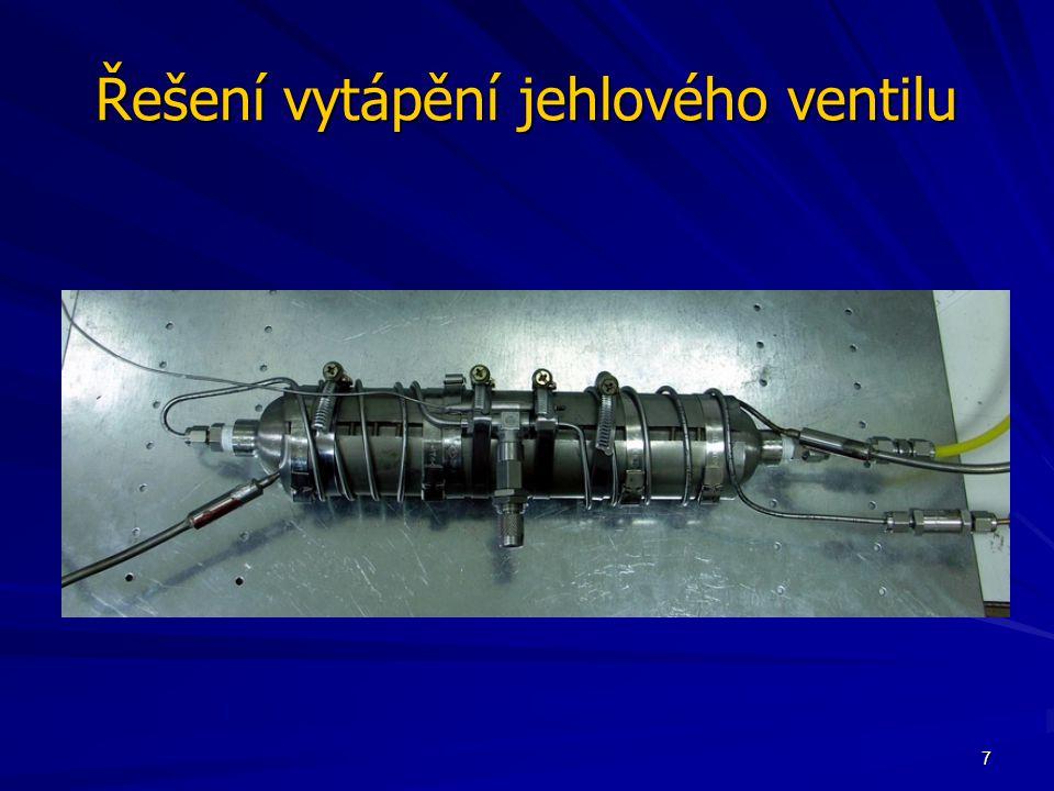 Řešení vytápění jehlového ventilu