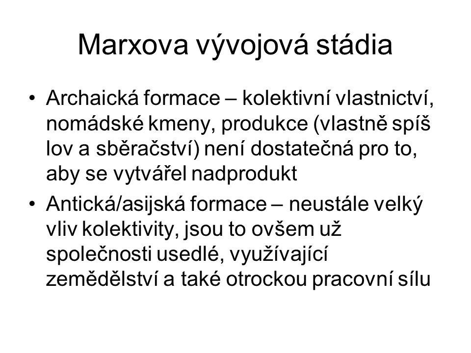 Marxova vývojová stádia