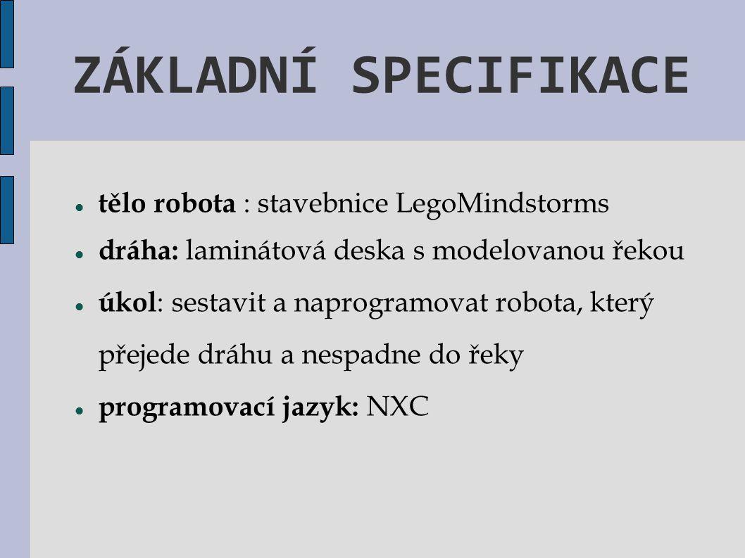 ZÁKLADNÍ SPECIFIKACE tělo robota : stavebnice LegoMindstorms